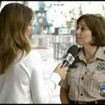 Policial se Borra na Entrevista ao Vivo