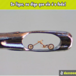obra de arte feita em miniatura