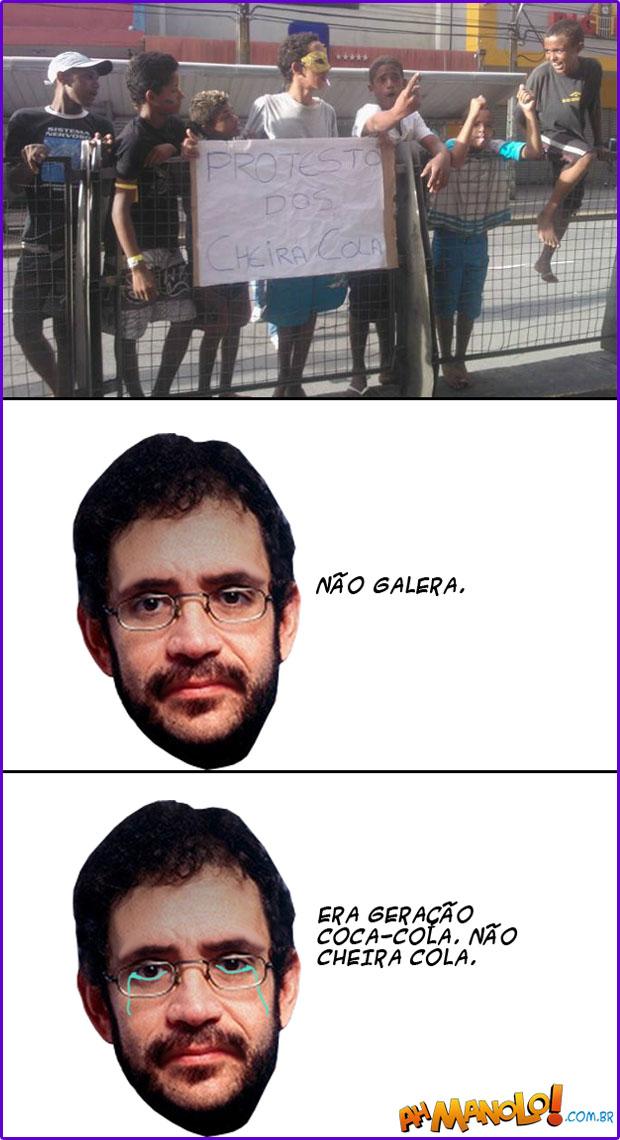 PROTESTO DOS CHEIRA COLA