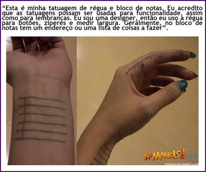 Porque será que essa tatuagem é a mais útil do mundo?