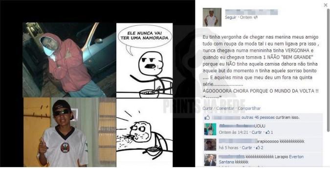 Os flagras mais engraçados do Facebook!