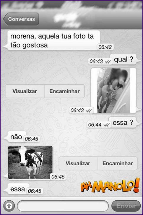 Morena foi dar uma de safada no whatsapp e acabou mandando a foto errada!