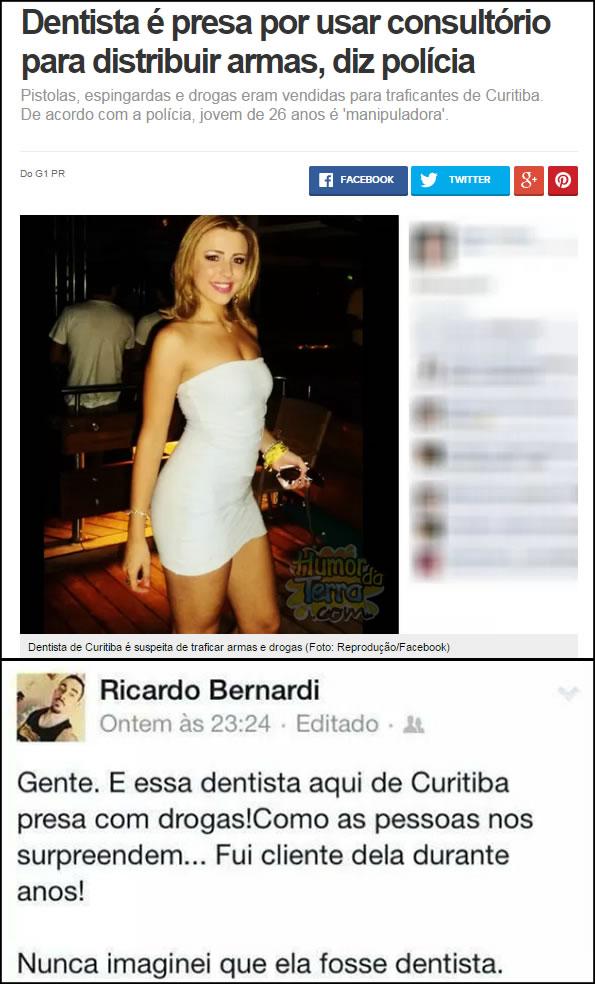 O melhor comentário sobre a prisão da dentista de Curitiba