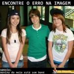Justin Bieber com garotas fãs